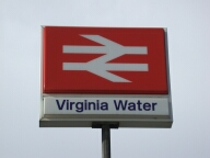 Railway station sign, Virginia Water
