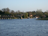 View towards Weybridge, Shepperton
