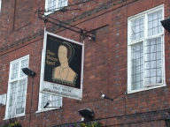 Anne Boleyn Hotel sign, Staines