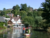 Weyside Inn and river Wey, Guildford