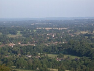 Brockham from Box Hill, Dorking