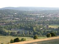 Dorking from Box Hill, Dorking