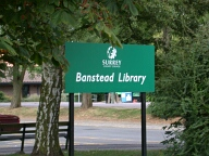 Library sign, Banstead