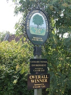 Surrey Village of Year sign, Lingfield