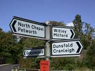 Road sign, Chiddingfold