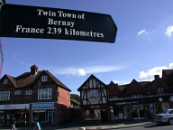 Twin town sign, Haslemere