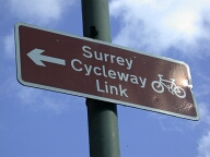 Cycleway sign, Haslemere