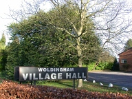 Village hall sign, Woldingham
