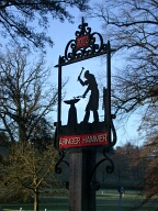 Village sign, Abinger Hammer