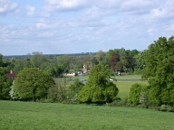View from John F Kennedy memorial, Runnymede, Egham