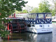Windsor Monarch river boat, Runnymede, Egham