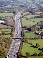 Aerial photograph of M23 looking north