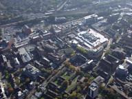 Aerial photograph of Redhill centre