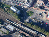Aerial photograph of Redhill station