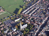 Aerial photograph of Dorking centre