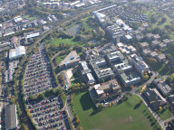 Aerial photograph of Surrey University
