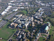 Aerial photograph of Surrey University and Guildford Cathedral