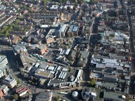 Aerial photograph of Guildford centre