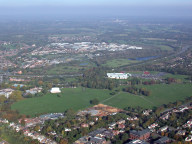 Aerial photograph of View to A3