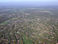 Aerial photograph of East Horsley