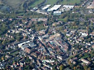 Aerial photograph of Leatherhead town centre