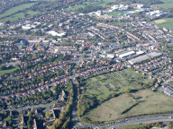 Aerial photograph of Approach to Leatherhead from M25