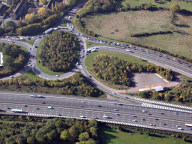 Aerial photograph of M25 junction 9