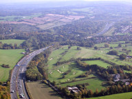 Aerial photograph of M25 near junction 8