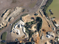 Aerial photograph of Works