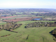 Aerial photograph of Fields near Merstham