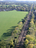 Aerial photograph of Railway and South Nutfield