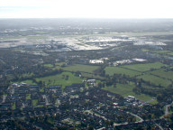 Aerial photograph of Horley and Gatwick airport
