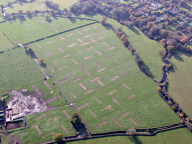 Aerial photograph of Fields near Horley