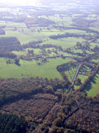 Aerial photograph of Woods and fields near Chiddingfold