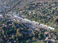 Aerial photograph of Haslemere railway station