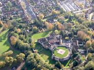 Farnham castle aerial photograph