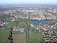 Aerial photograph of Aldershot