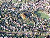 Aerial photograph of Village near Shere