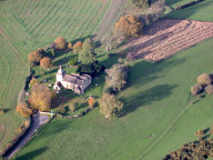 Aerial photograph of Church between Shere and Dorking