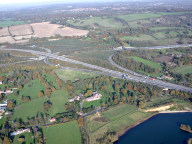 Aerial photograph of Junction of M25 and M23