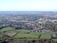 Aerial photograph of Town between Redhill and Horley