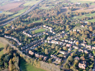 Aerial photograph of Village east of Redhill
