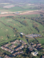 Aerial photograph of Golf course near Godstone