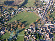 Aerial photograph of Village green, Godstone