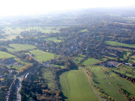 Aerial photograph of Village near Godstone