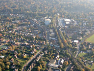 Aerial photograph of Oxted town centre