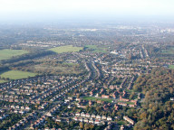 Aerial photograph of View towards Croydon from Warlingham