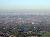 Aerial photograph of View towards the City of London