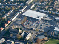 Aerial photograph of Supermarket in Caterham