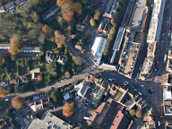 Aerial photograph of Caterham town centre